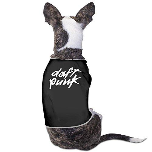 Daft Dog Costume Punk (Daft Punk Black 100% Fleece Dog Hoodie Vest Cute Jackets)