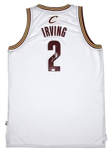 KYRIE IRVING Signed Cleveland Cavaliers White Jersey PANINI.