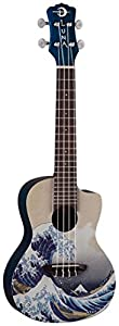 UKE GWC Luna Great Wave Mahogan Concert Ukulele with Gig Bag FREE Aquila Strings