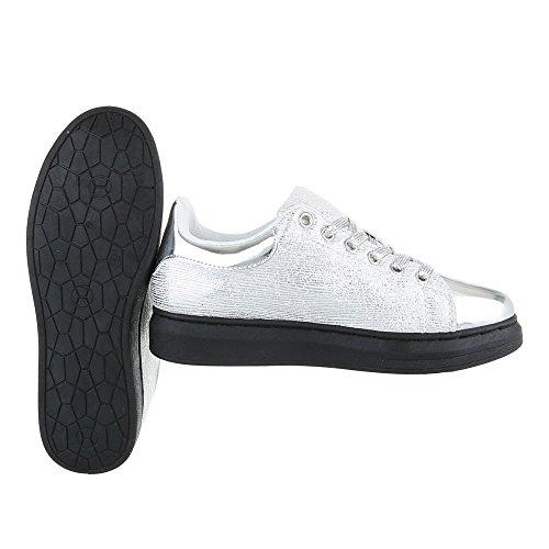 Ital-Design - Zapatillas de casa Mujer plata