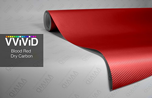 - VViViD Red 3D Carbon Fiber 17.75in x 60in Vinyl Wrap Roll XPO Air Release Technology