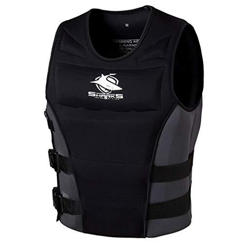 (hony Adult Swim Jacket Men Buoyancy Vest - Men Women Life Jacket Collision Protection (Black, 4XL))