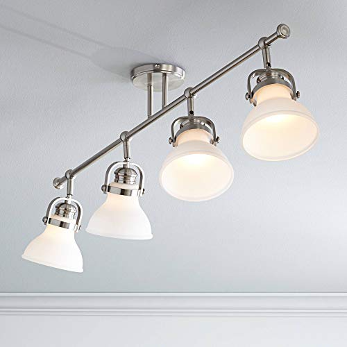 Luca 4-Light Satin Nickel Opal White Shades Track Fixture - Pro Track by Pro Track (Image #4)