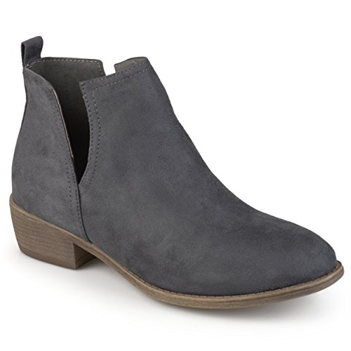 Brinley Co Women's Roxy Ankle Boot, Grey, 9 Regular US