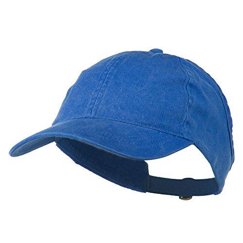 - Ladies Washed Cotton Ponytail Cap - Royal OSFM