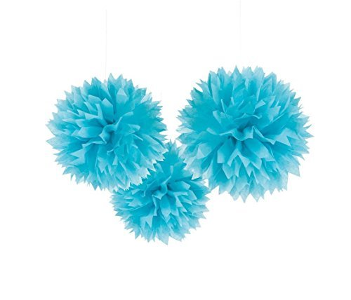 S-shine Set of 3 Tissue Pom Poms Party Decorations for Weddings, Birthday Parties Baby Showers and Nursery Décor (16-inch Diameter, Royal Blue) (Diy Tissue Pom Poms)