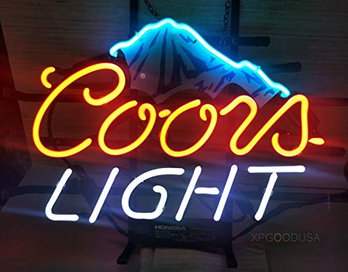 "XPGOODUSA Beer neon Light Sign- New Coors Light Beer Mountain 17""×13"" bar Signs for Home Bedroom Garage Neon Decor Wall Window Neon Lights, Striking Neon Lights for Bar Pub Game Room by XPGOODUSA (Image #4)"