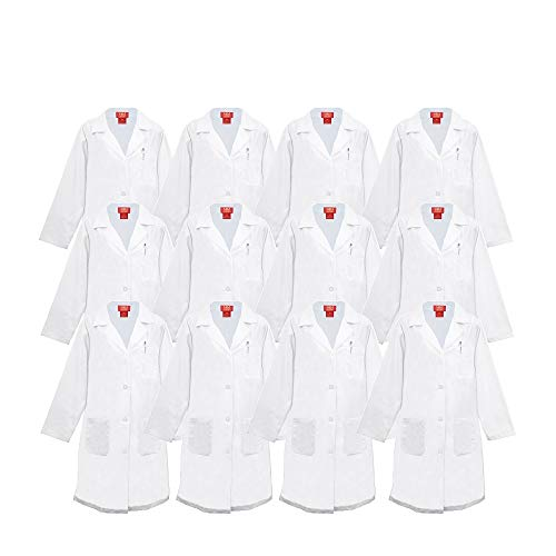 M&M SCRUBS Unisex Multy Pack White Lab Coat Medical Professional Workwear 40 inch