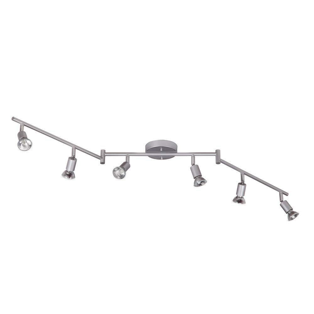 Globe Electric 59351 Payton 6-Light Foldable Track Lighting, Silver