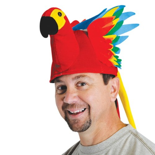 Plush Parrot Hat Party Accessory (1 count) (1Pkg)