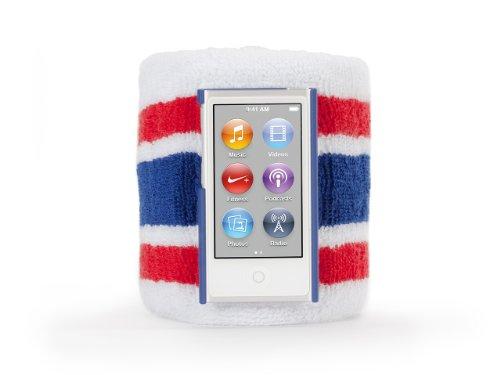 Griffin Red/Blue SportCuff Wristband case for iPod nano (7th gen.) - Absorbent wristband for iPod nano (7th gen.)