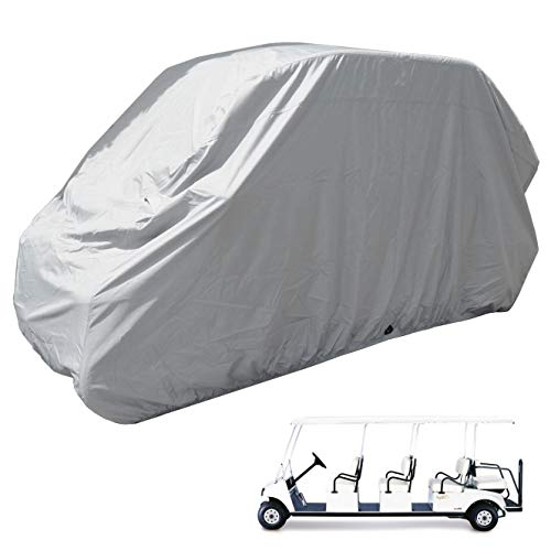 Golf Cart 8 Passengers Storage Cover fits EZGO, Club car or Yamaha model. Fits Chrysler/Polaris GEM e6 Grey