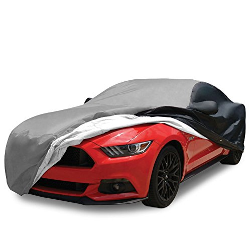 2015-2019 Mustang Ultraguard Plus Car Cover - Indoor/Outdoor Protection (Gray/Black)