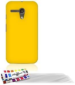 Muzzano F25085 - Funda para Motorola Moto G X1032 + 3 protecciones de pantalla, color amarillo