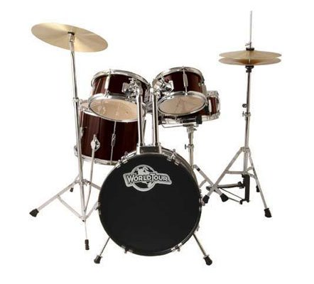 world-tour-jr-complete-5-piece-drumset-with-drum-throne-and-drum-sticks-wine-red-metallic