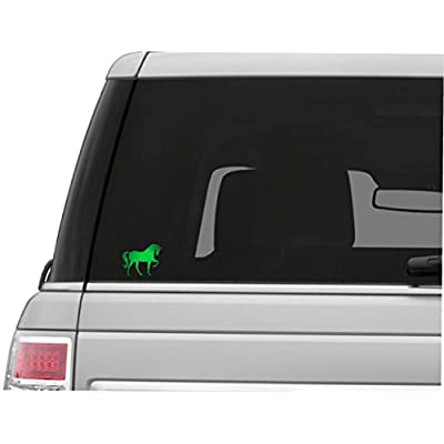 Vinyl Junkie Graphics Horse Custom Sticker Graphic Decal for Notebook car Truck Laptop Many Color Options (Bright Green): Automotive