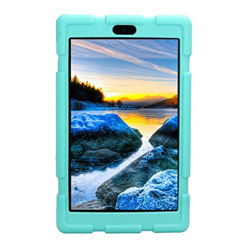Christmas Best Kindle Accessory!!Kacowpper for Amazon Kindle Fire HD8 2017/2018 Universal Case Soft Silicone Rugged Cover