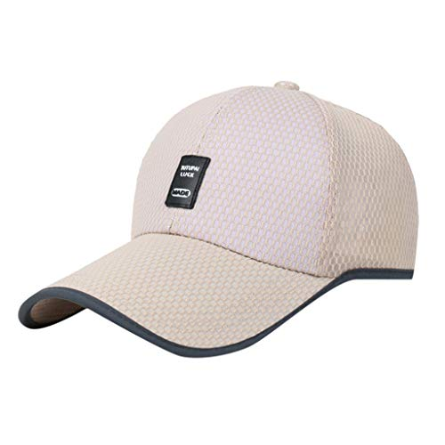 TANGSen Womens Mans Cotton Hat Embroidered Unisex Baseball Caps Breathable Casual Adjustable Beige]()