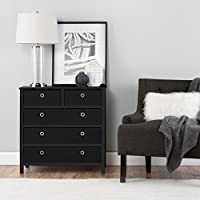 EZ Home Solutions FFR104BK01 Foldable Furniture Split Drawer Dresser, 31 x 31 x 19, Black