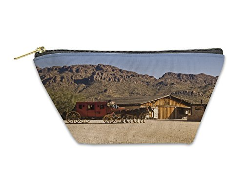 Gear New Accessory Zipper Pouch, Tucson Old Western Stage Coach, Large, 5451058GN
