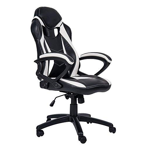 Merax PP033237 Gaming Chair, White