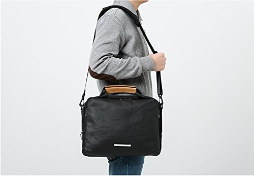 Rawrow R Brief 120 Aktentasche Laptoptasche bis 13 Zoll aus Canvas Wasserabweisend für Damen & Herren Grau