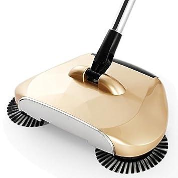 SAOBA Escoba mágica Perezoso Barrer aspiradora Robot sin Electricidad hogar Mano Escoba Pala para Recoger Basura y Basura 3 en 1,Golden: Amazon.es: Hogar