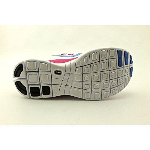 Nike Dames Wit / Roze / Blauw Vrij 5.0+ Hardloopschoenen Us 6.5