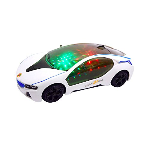PRUNUS 3D Music Lighting Super Car Children's Electric Toy Car 3AA batteries Operated Toy Vehicles[not included]