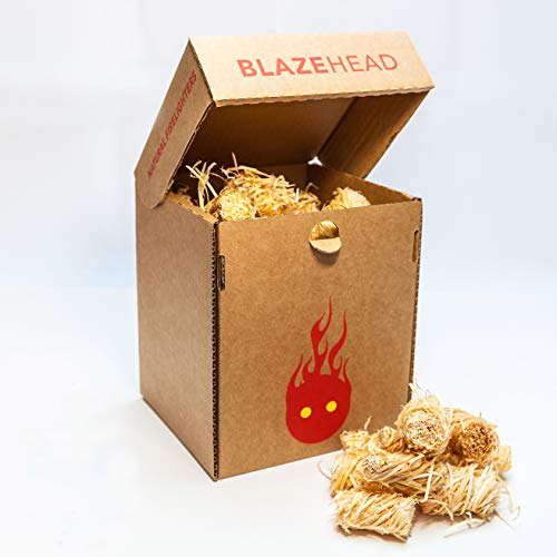 200 Box Spruce Wood Wool Coated Natural Wax. Eco Blaze Natural Firelighters