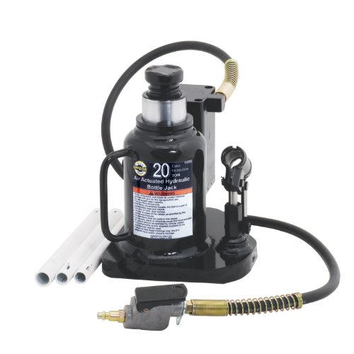 Omega 18209 Black Low Profile Hydraulic Welded Bottle Jack - 20 Ton ()