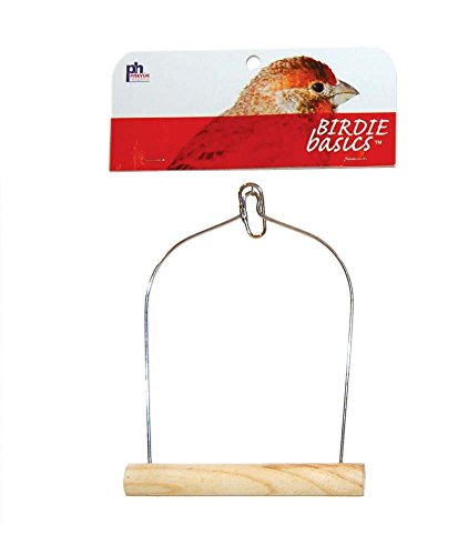 Prevue Pet Products BPV389 Natural Wood Birdie Basics Birch/Wire Swing, 5 by 7-Inch