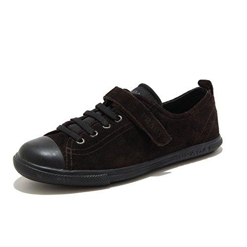 Prada Brown Marron 41877 Kids Bimbo Sport Sneaker Scarpa Marrone Shoes rUUxgqEwSn