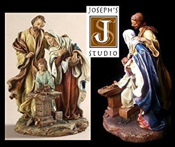 - Holy Family Figurine - Carpenter Shop Statue - St Joseph's Studio