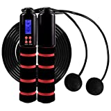 EC VISION Jump Rope, Digital Counting Speed Jumping Rope Corded and Cordless Workout Skipping Rope for Men,Women, Kids