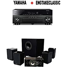 Yamaha AVENTAGE RX-A880 7.2-ch 4K Ultra HD AV Receiver with HDR + Energy 5.1 Take Classic Home Entertainment System (Set of Six, Black) Bundle