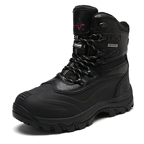 Fashion Cold Boots Weather - NORTIV 8 Men's 2160443 Black Insulated Waterproof Construction Hiking Boots Size 7.5 M US