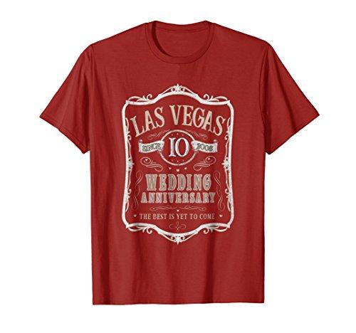 Las Vegas 10th Wedding Anniversary Gift T-Shirt - Men Women