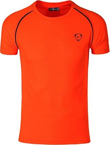 Compression Slim Homme packi Sport Lsl182 Quick shirt Sportswear 3 X Sleeves Dry Tee Orange Lsl182 Short T Packs Jeansian xqaXvqd