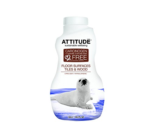 Natural Floor Cleaner, Hypoallergenic, Free of Contaminants and Potentially Harmful Preservatives, 100% Safe. (27.1 oz) by Attitude