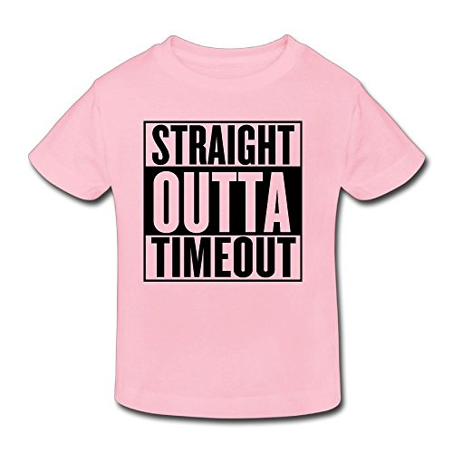 Waldeal Girls Straight Outta Timeout Toddler T Shirt Funny Kids Timeout Tee 2 Years Old