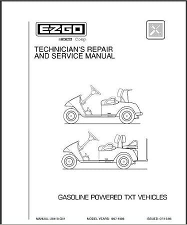 Amazoncom EZGO 28410G01 19971998 Technicians Service and Repair