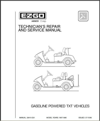 amazon com ezgo 28410g01 1997 1998 technician s service and repair rh amazon com ezgo manual ez go manual free download