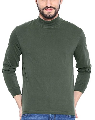 a64b50b7420 Dream of Glory Inc. Men s Cotton Turtle Neck T-Shirt (XS-8XL)  Amazon.in   Clothing   Accessories