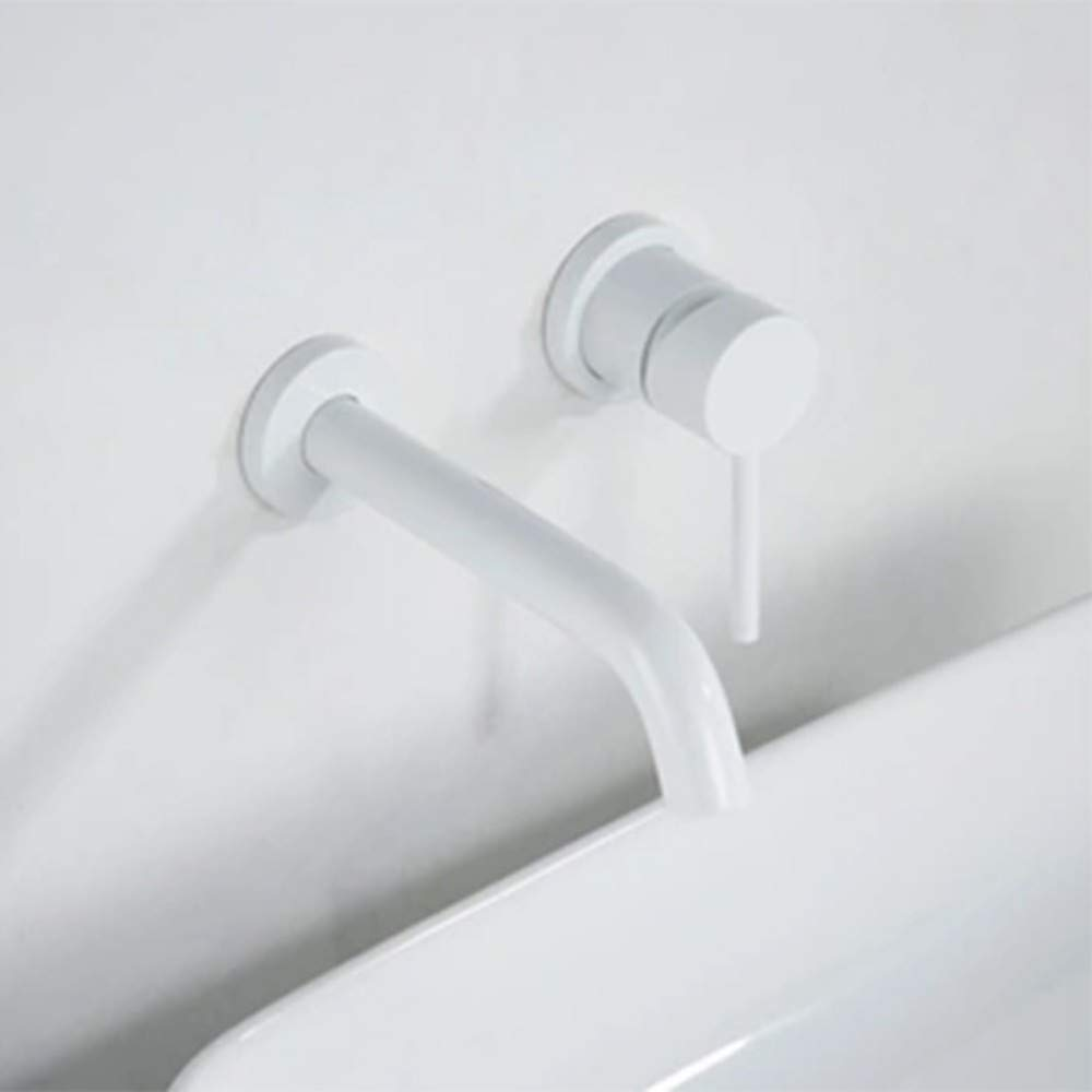 White Paint Taps Faucet Chrome Antique White Paint Concealed Hot and Cold Water Basin Faucet Split Separation Faucet, Chrome