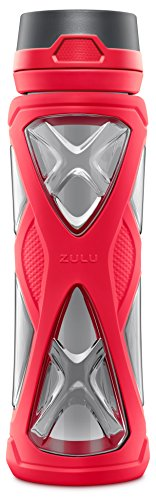 (Zulu Charge BPA-Free Plastic Water Bottle with 360 Dial-a-Flow Lid, Pink, 24 oz)