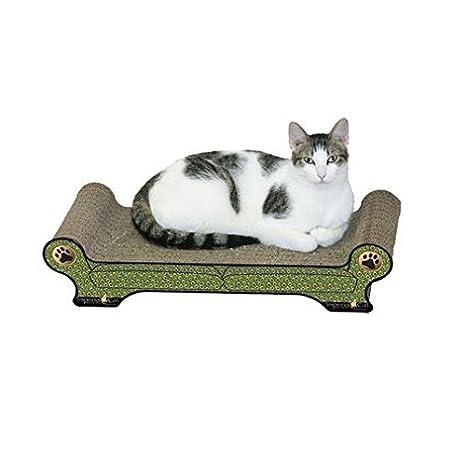 Genial Large Regular Sofa Cat Scratcher Style: Peacock (As Shown)