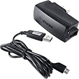 OEM Original Home Wall AC Travel Charger + USB 2.0 Data Sync Connect Transfer Charge Cable for Verizon Samsung Gusto - Verizon Samsung Haven U320 - Verizon Samsung Omnia 2 CDMA Cell Phone
