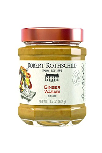 (Robert Rothschild Farm Ginger Wasabi Sauce (11.7 oz) - Sauce & Dip - Top Sushi and Fish - Add to Tuna or Pork - Vegetable and Pretzel Dip)