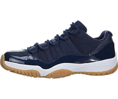 Jordan Nike Mens Air 11 Retro Low Midnight Navy Midnight Navy/White Gum Leather Size 10